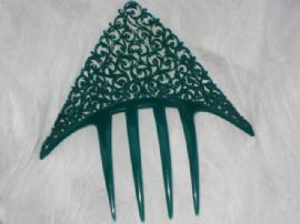 Fabulous Green French Art Deco Haircomb by Auguste Bonaz (SORRY THIS ITEM IS SOLD)